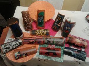 Tejas pintadas a mano artesanalmente
